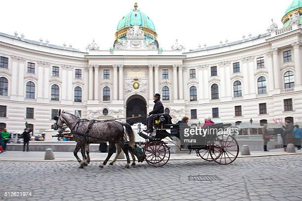 Horse carriage at Hofburg