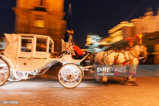 Horse carriage ride in Krakow, Poland