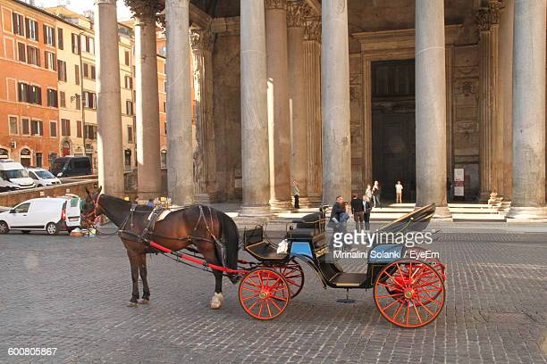 Horse Cart In Front Of Pantheon