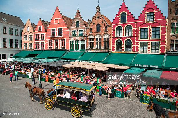Horse drawn carriage at the Markt market square