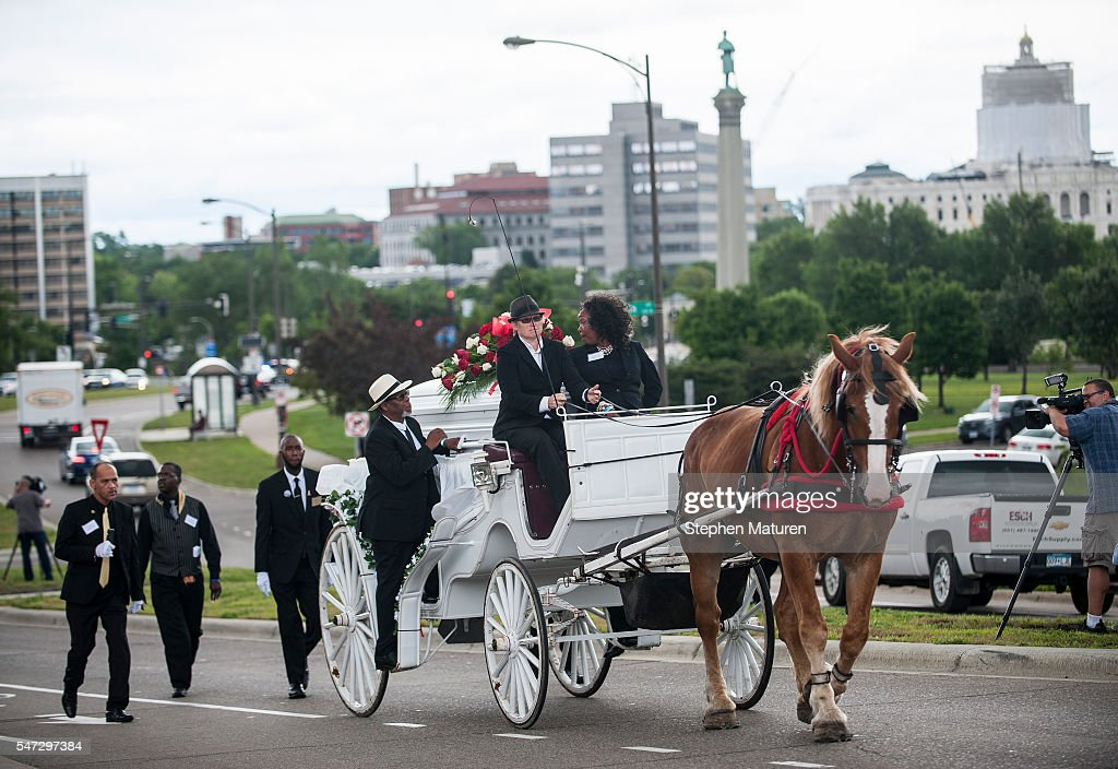 Funeral Held For MN Police Shooting Victim Philando Castile : News Photo