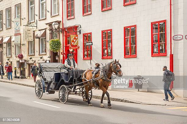 Horse drawn carriage of Quebec City