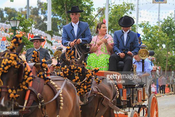 馬車でのセビリアのフェア