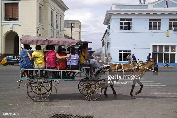 Horse drawn public transport, Santiago de Cuba, Cuba, Caribbean