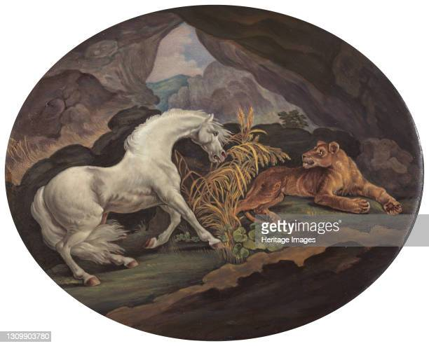 Horse Frightened by a Lioness, ca. 1800. After George Stubbs Artist Unknown. .