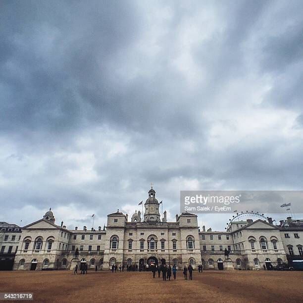 Horse Guards Parade At Whitehall Against Cloudy Sky