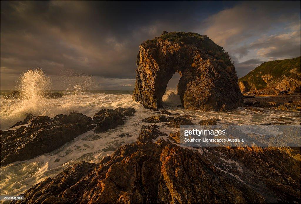Horse head rock, Bermagui, southern coastline of New South Wales, Australia. : Stock Photo