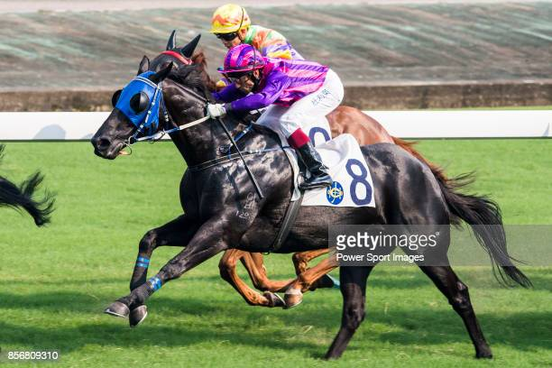 Horse Little Fantasy ridden by Olivier Doleuze competes during the race 6 of HKJC Horse Racing 201718 at the Sha Tin Racecourse on 16 September 2017...
