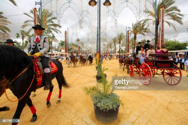 Horse parade at the Feria del Caballo (Horse Fair) at Jerez