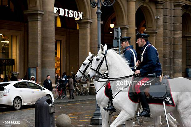 Horse Police in Florence, Italy