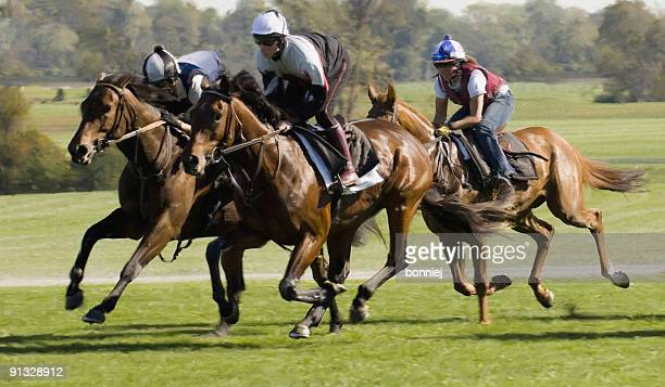 horse race (digital painting) - horse racing stock pictures, royalty-free photos & images