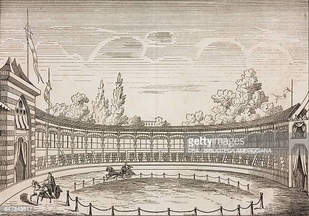 Horse racecourse engraving from ParisGuide by leading writers and artists of France Volume 1 ScienceArt 1867