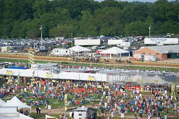 136th Preakness Stakes Overall view of infield during race at Pimlico Race Course Baltimore MD CREDIT Bill Frakes