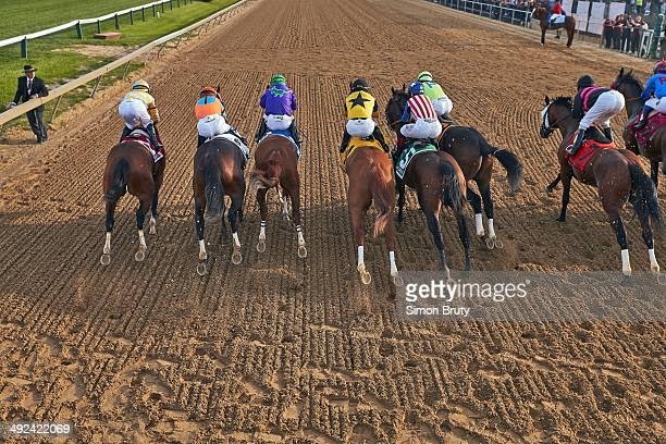139th Preakness Stakes Miguel Mena in action aboard Dynamic Impact Javier Castellano aboard General a Rod Victor Espinoza aboard California Chrome...