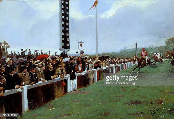 Horse racing at Longchamp or the Course at Longchamp Painting by Jean Beraud 1886 038 x 055 m Carnavalet Museum Paris