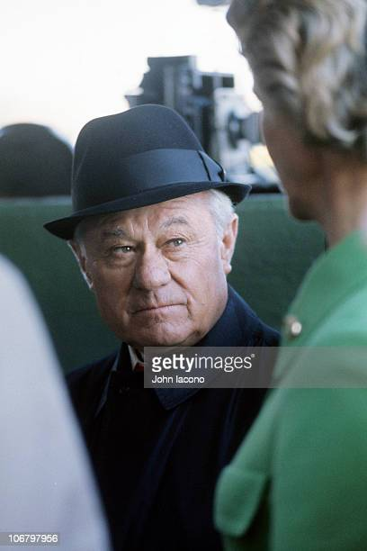 Bay Shore Stakes Closeup of Secretariat trainer Lucien Laurin before race at Aqueduct Racetrack Jamaica neighborhood of the Queens borough of New...