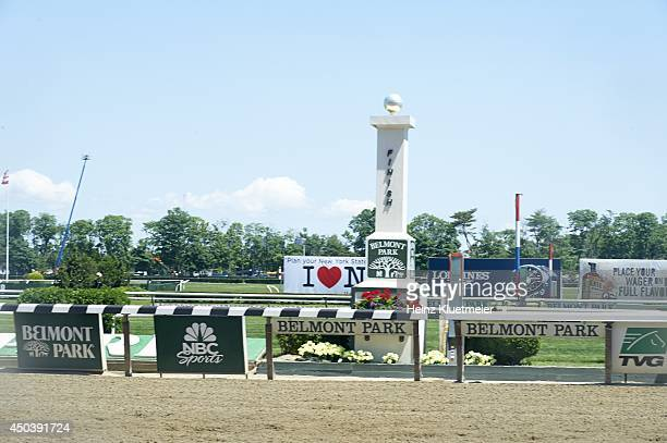 Belmont Stakes View of track during race at Belmont Park Elmont NY CREDIT Heinz Kluetmeier