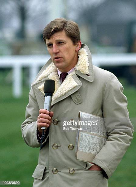 Horse Racing Commentator Brough Scott at the Spring Meeting in Doncaster 24th March 1984