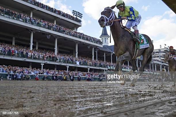 Kentucky Derby Closeup of John Velazquez in action leading race aboard Always Dreaming at Churchill Downs Louisville KY CREDIT Laura Heald