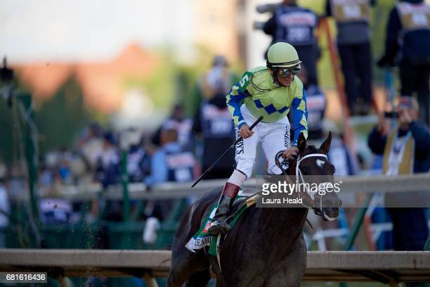 Kentucky Derby John Velazquez in action aboard Always Dreaming during race at Churchill Downs Louisville KY CREDIT Laura Heald