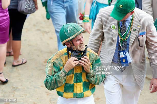 Kentucky Derby Kent Desormeaux jockey of Dullahan after race at Churchill Downs Louisville KY CREDIT Gary Bogdon