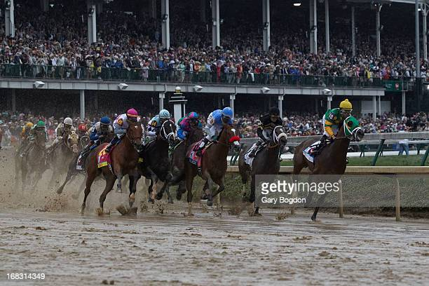 Kentucky Derby Mike Smith in action leading race aboard Palace Malice during race at Churchill Downs Louisvile KY CREDIT Gary Bogdon
