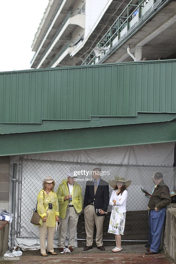 View of miscellaneous fans before race at Churchill Downs. Louisville, KY 5/1/2010