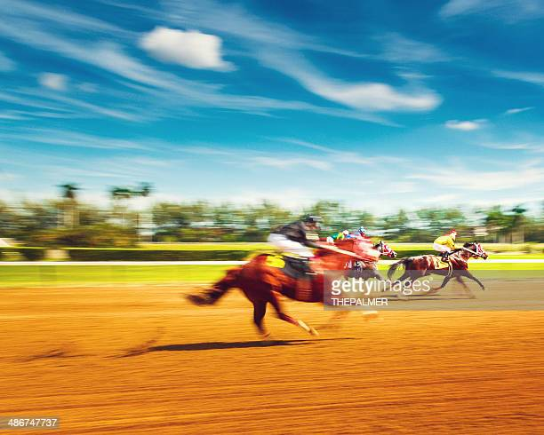 horse racing motion blur - horse racing stock pictures, royalty-free photos & images