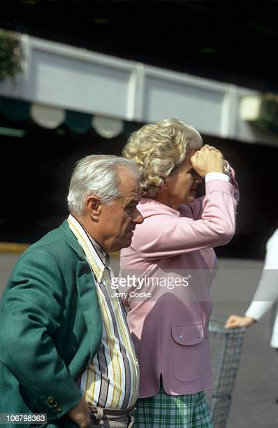 Secretariat trainer Lucien Laurin and owner Helen Penny Chenery Tweedy at Belmont Park Elmont NY 5/29/1973 CREDIT Jerry Cooke