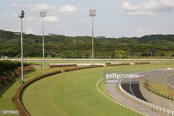 horse racing track - horse racecourse stock photos and pictures