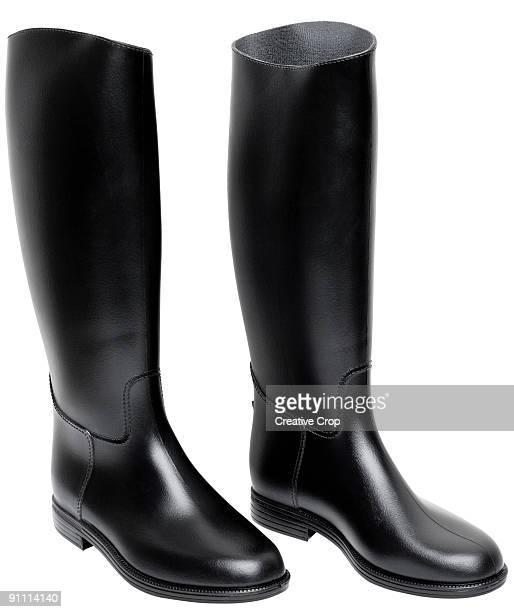 Horse riding boots, black leather