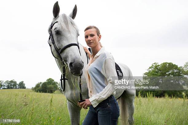 Horse riding champion Penelope Leprevost is photographed for Paris Match on June 5 2012 in Lisieux France