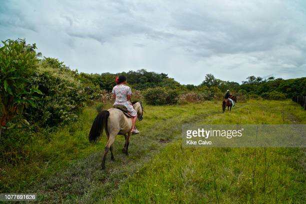 Horse riding through the Colombian flatlands