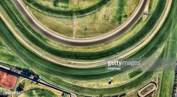horse riding track. victoria, australia - horse racing ストックフォトと画像