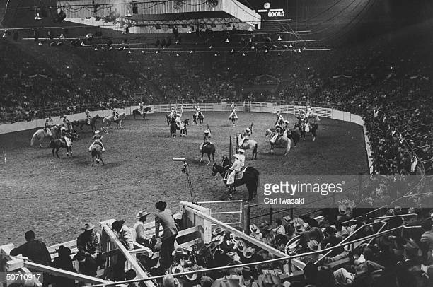 Horse show being shown during the National Western Stock show