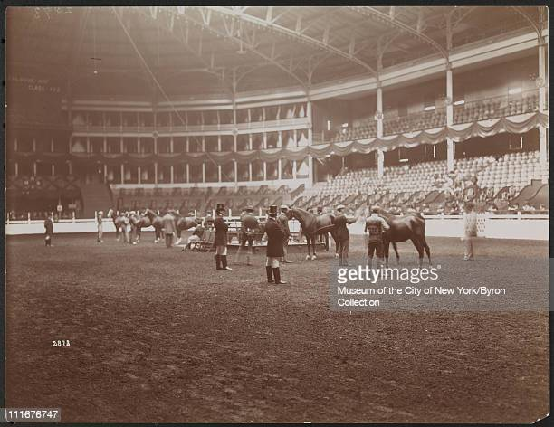 Horse Show, Madison Square Garden, New York, New York, mid 1890s.