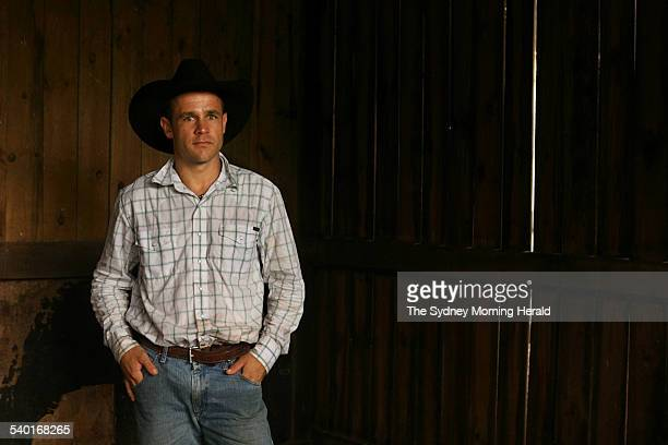 Horse trainer Adam Sutton who was Heath Ledger's inspiration for his cowboy character in the film 'Brokeback Mountain' 12 February 2007 SMH Picture...