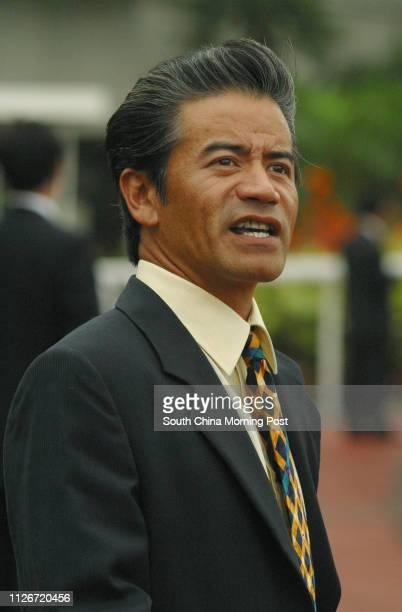 Horse trainer Anthony Cruz at Sha Tin Racecourse 18 May 2003
