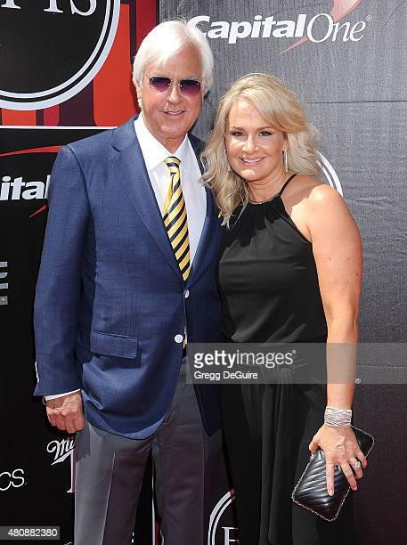 Horse trainer Bob Baffert and Jill Baffert arrive at The 2015 ESPYS at Microsoft Theater on July 15, 2015 in Los Angeles, California.
