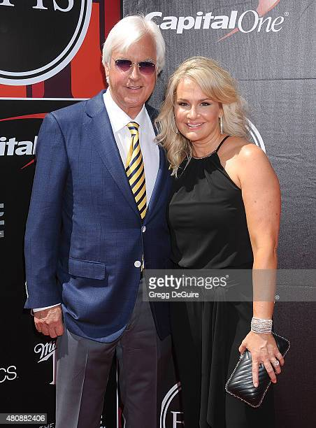 Horse trainer Bob Baffert and Jill Baffert arrive at The 2015 ESPYS at Microsoft Theater on July 15 2015 in Los Angeles California