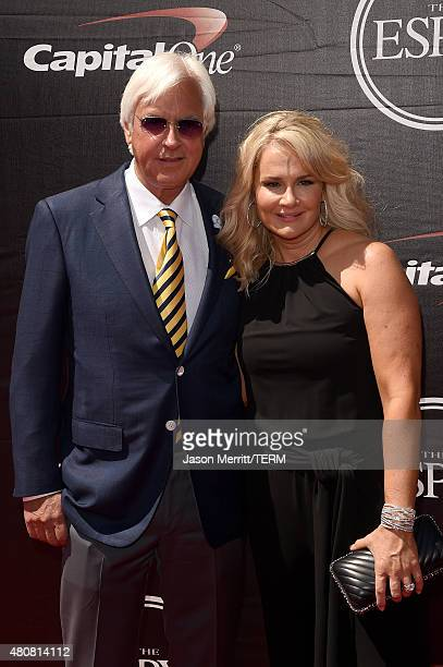 Horse trainer Bob Baffert with wife Jill Baffert attend The 2015 ESPYS at Microsoft Theater on July 15 2015 in Los Angeles California