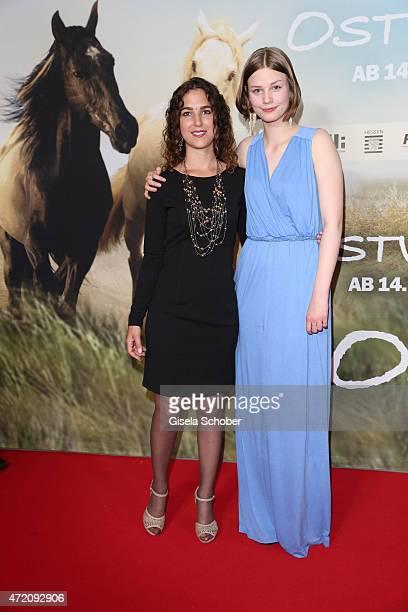 Horse trainer Kenzie Dysli Hanna Binke during the German premiere of the film 'Ostwind 2' on May 3 2015 in Munich Germany