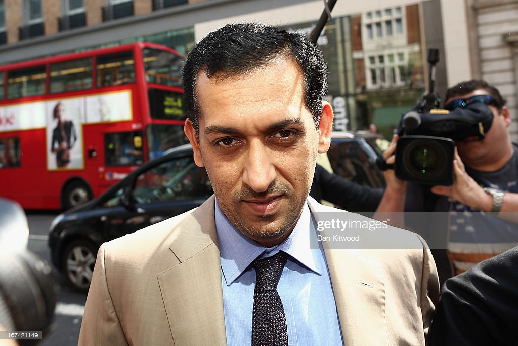 Horse trainer Mahmood Al Zarooni arrives to face a British Horseracing Authority disciplinary panel in High Holborn on April 25, 2013 in London, England. Mr Al Zarooni is charged with doping offences by the BHA after traces of anabolic steroids were found in 11 horses at the Godophin stables of Sheik Mohammed at Moulton Paddocks in Newmarket.