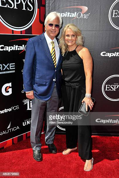 Horse trainers Bob Baffert and Jill Baffert arrive at the 2015 ESPYS at Microsoft Theater on July 15 2015 in Los Angeles California