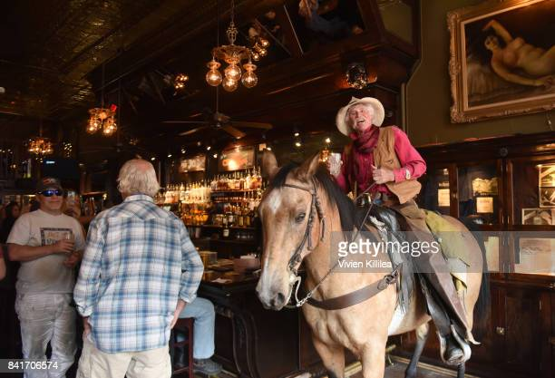 A horse walks into a bar at the Telluride Film Festival 2017 on September 1 2017 in Telluride Colorado