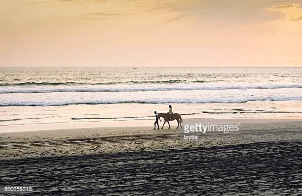 Horseback riding at the beach in Bali