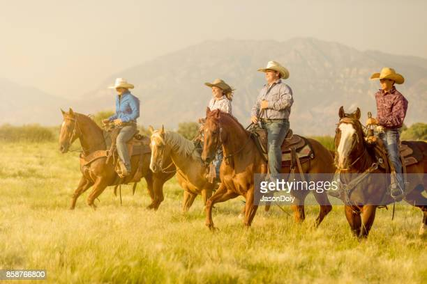 A Horseback Riding Group in the Utah Country