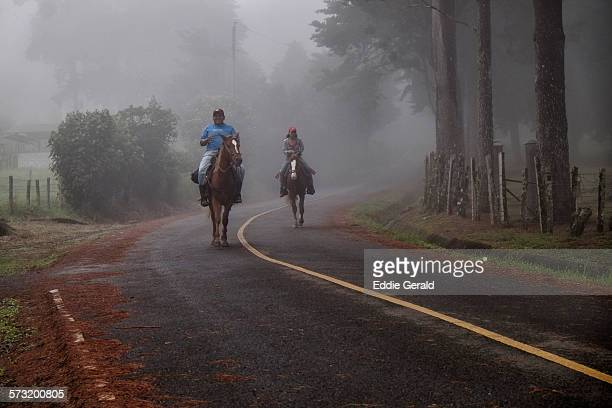 Horseback riding in the highlands of Chiriqui region Republic of Panama