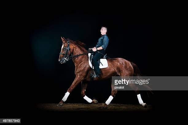 horseback riding - dressage stock pictures, royalty-free photos & images