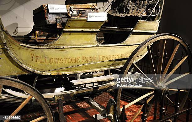 A horsedrawn buggy used in the 1800s by the Yellowstone Park Transportation Company is among the artifacts on display at the Pioneer Memorial Museum...